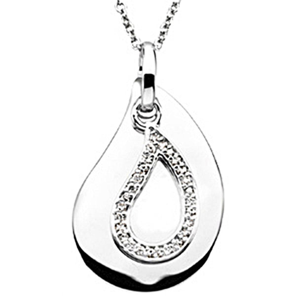 Inspirational Blessings Sterling Silver A Tear to Treasure Necklace