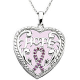 Inspirational Blessings Sterling Silver Breast Cancer Awareness Necklace