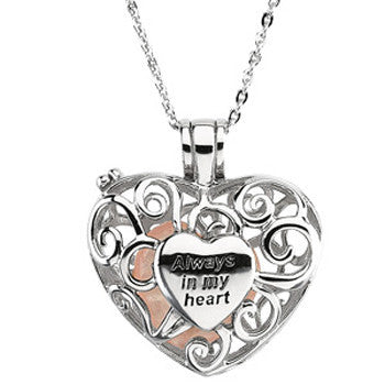 Inspirational Blessings Sterling Silver Always In My Heart Necklace
