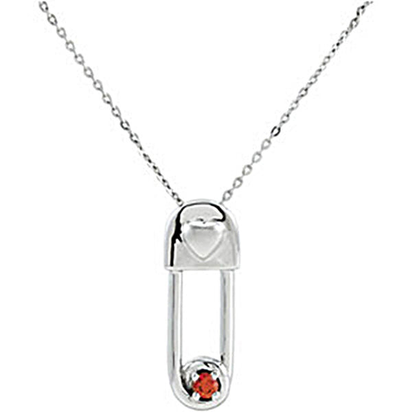 Inspirational Blessings Sterling Silver Safe In My Love January Birthstone Necklace