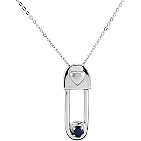 Inspirational Blessings Sterling Silver Safe In My Love September Birthstone Necklace