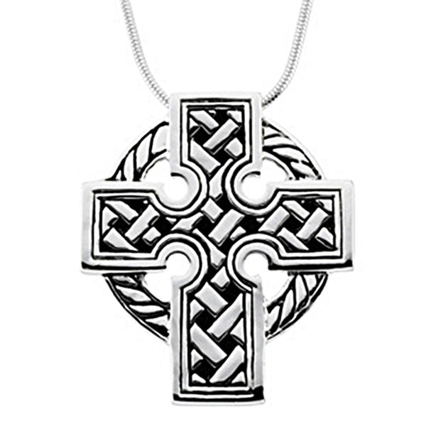 Inspirational Blessings Sterling Silver Celtic Cross Necklace