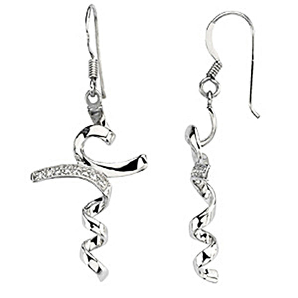 Inspirational Blessings Sterling Silver I Stand in Awe Earrings
