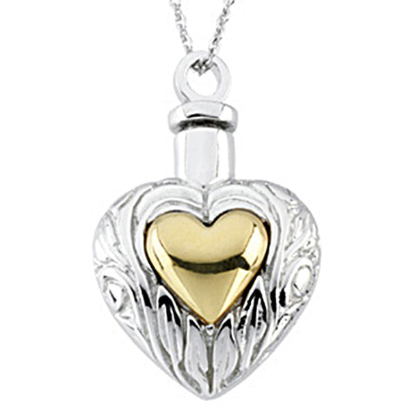 Inspirational Blessings 14K Yellow Gold Plated Sterling Silver Ash Holder Necklace