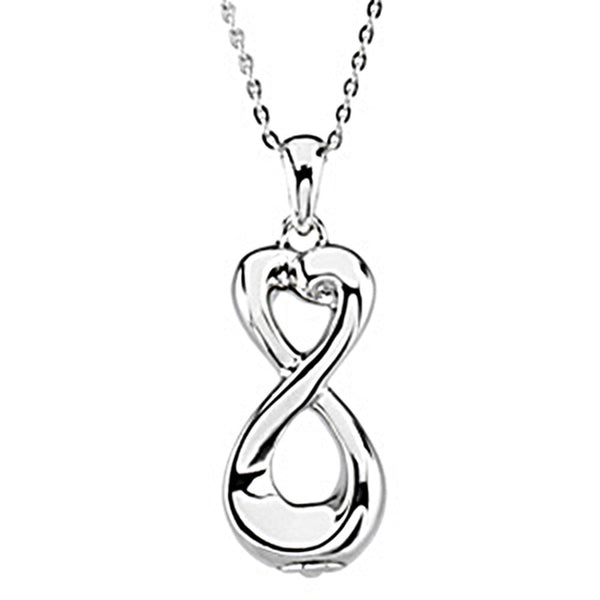 Inspirational Blessings Sterling Silver Infinite Love Ash Holder Necklace