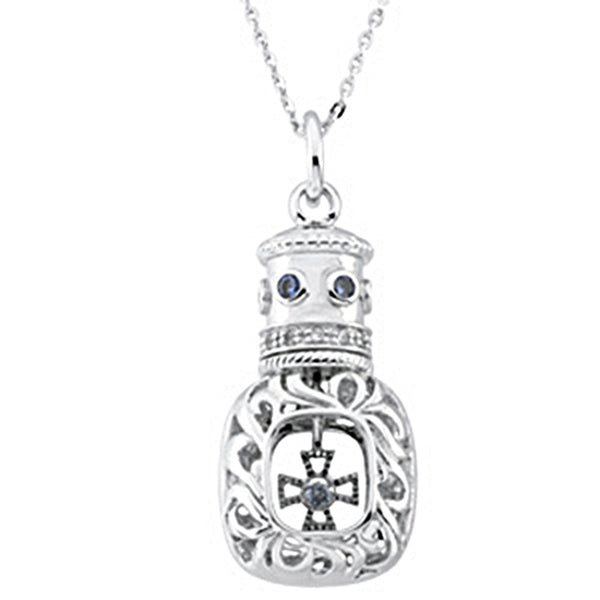 Inspirational Blessings Sterling Silver Window of Opportunity CZ Necklace