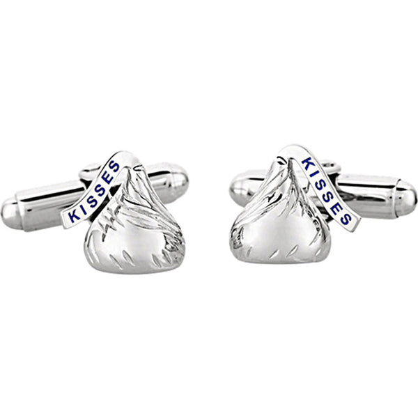 Sterling Silver 10mm Hershey's Kisses Cuff Links