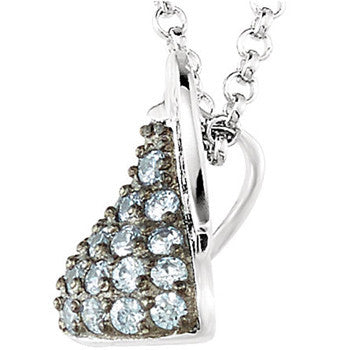 Sterling June Birthstone CZ Encrusted Hershey's Kiss Necklace