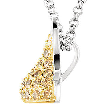 Sterling November Birthstone CZ Encrusted Hershey's Kiss Necklace