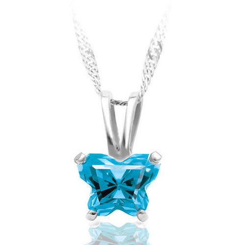 Sterling Silver December CZ Birthstone Youth Necklace by Bfly