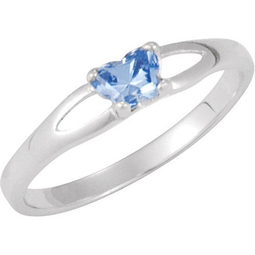 Sterling Silver December CZ Birthstone Youth Ring by Bfly