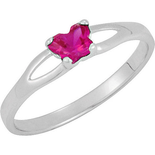 Sterling Silver July CZ Birthstone Youth Ring by Bfly