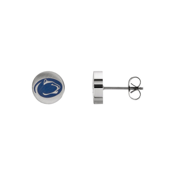 Stainless Steel Penn State Nittany Lions Stud Earrings