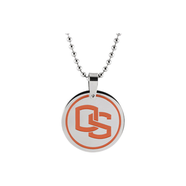 Stainless Steel Oregon State University Beavers Medallion Necklace