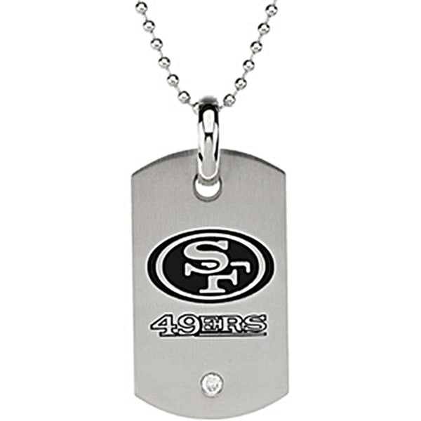 Stainless Steel San Francisco 49ers Logo Dog Tag Necklace