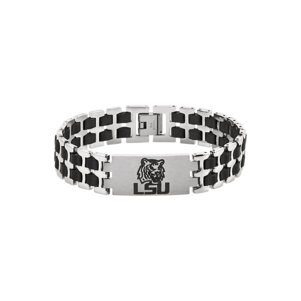 Stainless Steel Louisiana State University Tigers Bracelet