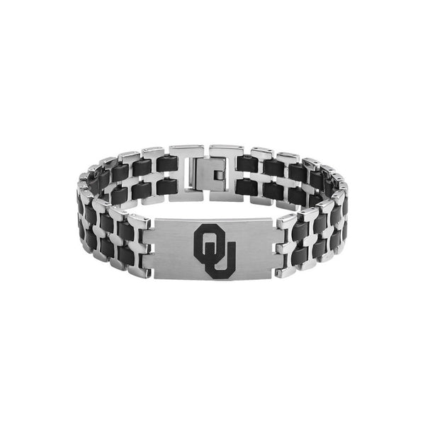 Stainless Steel University of Oklahoma Sooners Bracelet