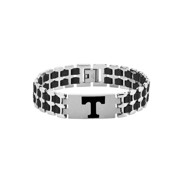 Stainless Steel Tennessee Volunteers Logo Bracelet