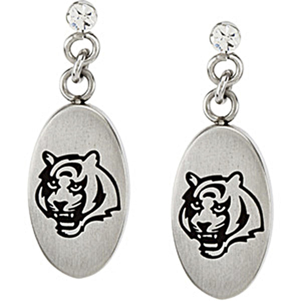 Stainless Steel Cincinnati Bengals Logo Dangle Earrings