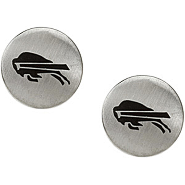 Stainless Steel Buffalo Bills Logo Stud Earrings