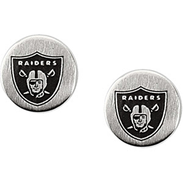 Stainless Steel Oakland Raiders Logo Stud Earrings
