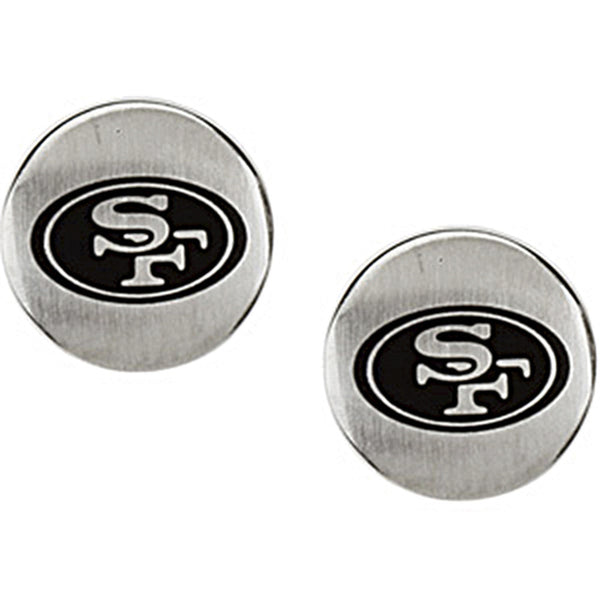 Stainless Steel San Francisco 49ers Logo Stud Earrings