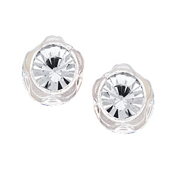 Clear Austrian Crystal Blomdahl Medical Plastic Earrings