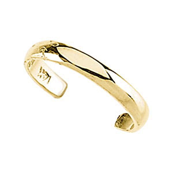 Solid 14K Gold Band Toe Ring