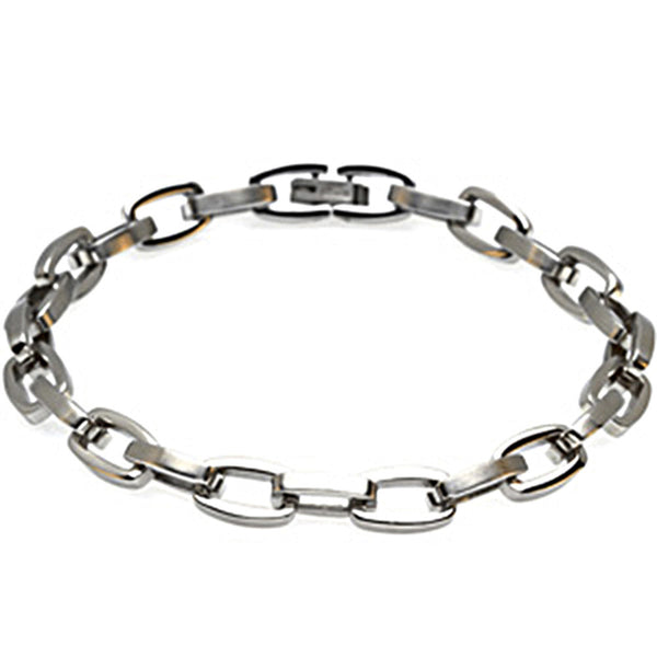 8 Inch Chain Link Stainless Steel Men's Bracelet