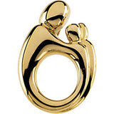 14K Yellow Gold Mother and Child Pendant by Janel Russell
