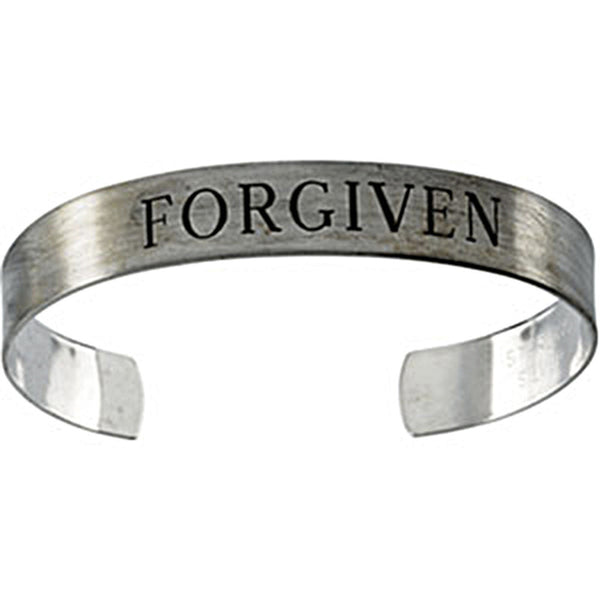 Antiqued Sterling Silver Forgiven Cuff Bracelet