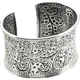 Scroll Sterling Silver Cuff Bracelet - 41.75mm