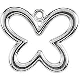 Sterling Silver Tiny Butterfly Charm