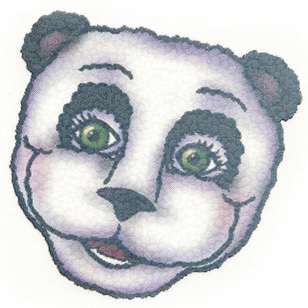PANDA BEAR PORTRAIT Temporary Tattoo 2x2