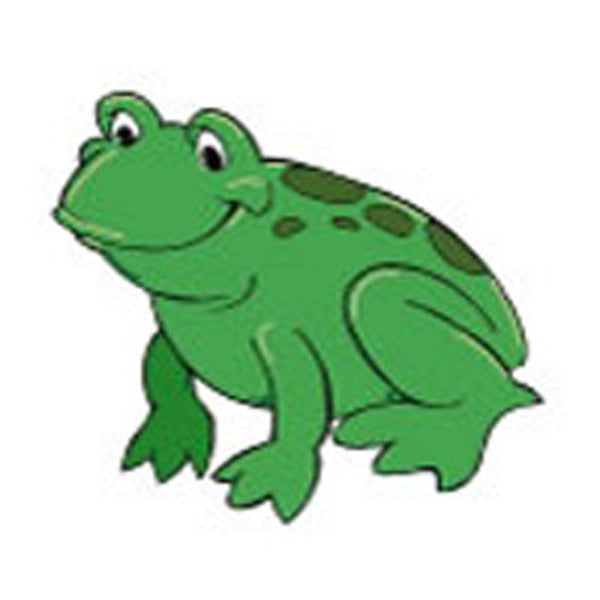 GREEN FROG Temporary Tattoo 2x2
