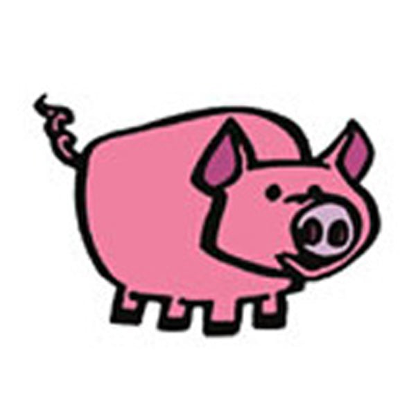 CUTE PIG Temporary Tattoo 2x2