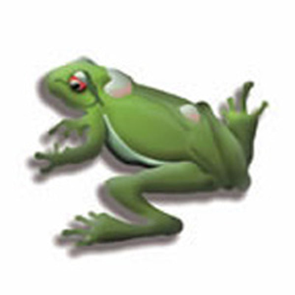3-D FROG Temporary Tattoo 2x2