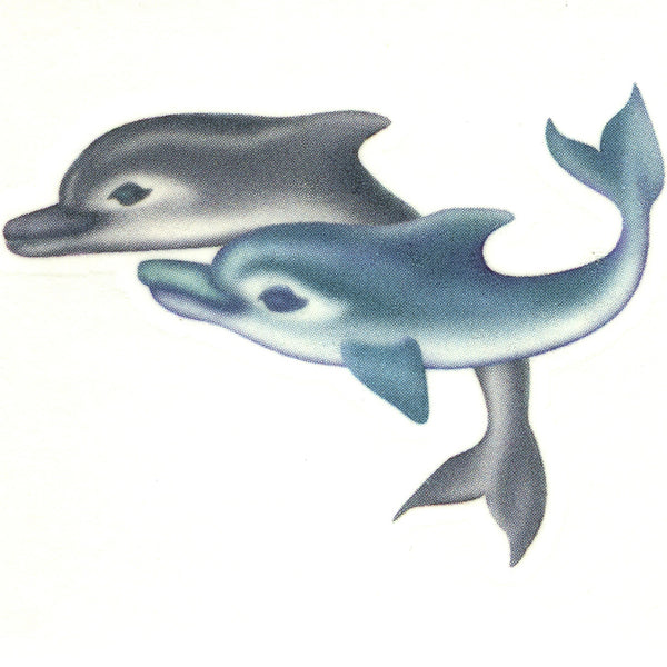 SWIMMING DOLPHINS Temporary Tattoo 2x2