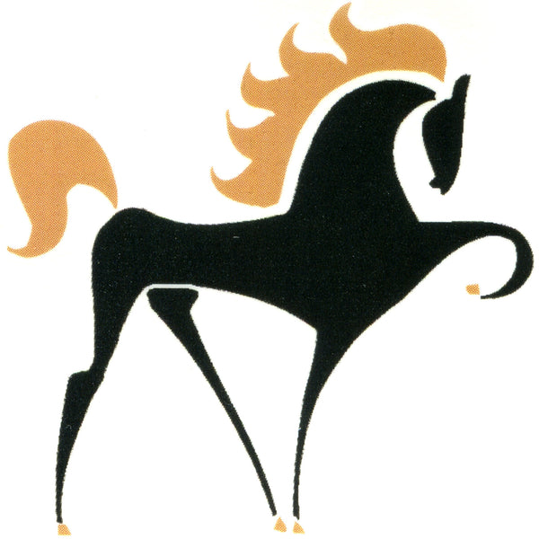 BLACK STALLION Temporary Tattoo 2x2
