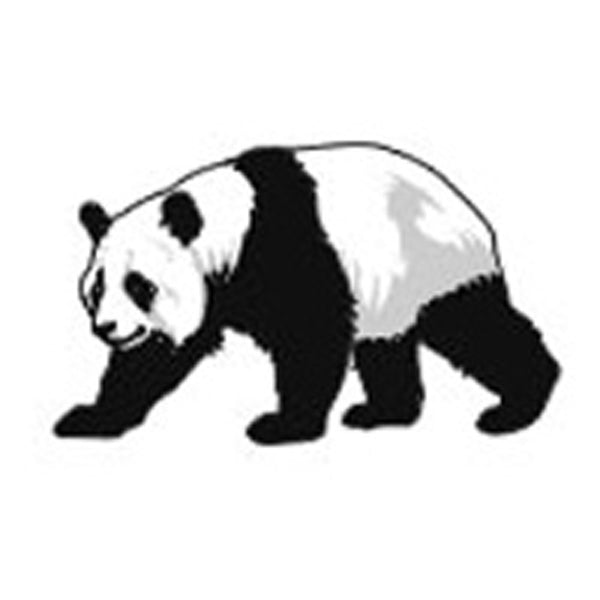 PANDA BEAR Temporary Tattoo 2x2