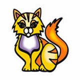 YELLOW CAT Temporary Tattoo 2x2