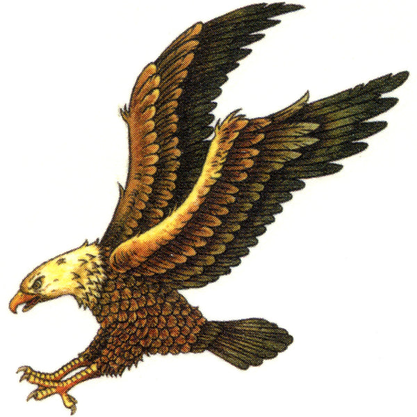 SOARING EAGLE Temporary Tattoo 2x2