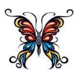 BUTTERFLY 14 Temporary Tattoo 2x2