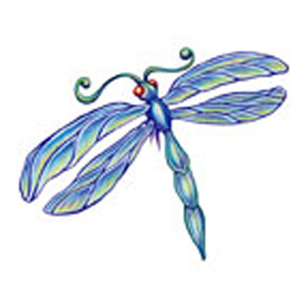 DRAGONFLY 4 Temporary Tattoo 2x2