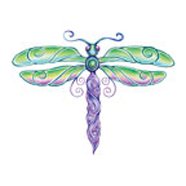 DRAGONFLY 6 Temporary Tattoo 2x2