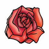 SINGLE ROSE Temporary Tattoo 2x2