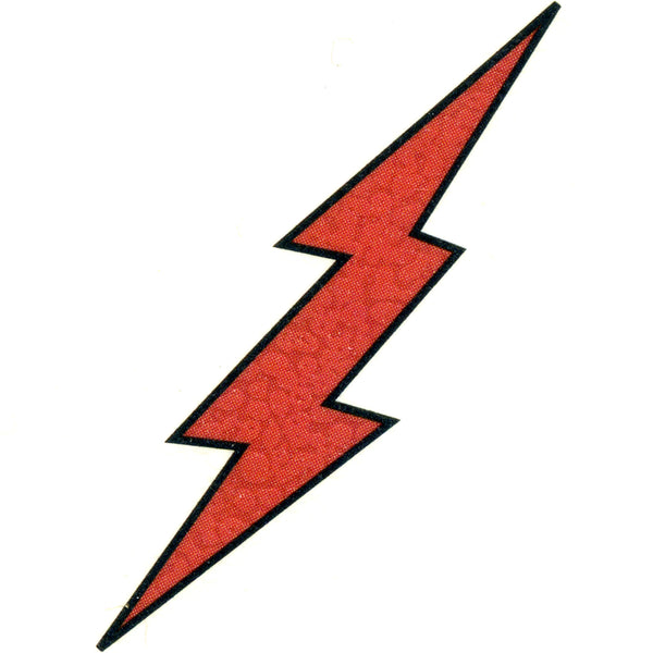 RED LIGHTNING Temporary Tattoo 2x2