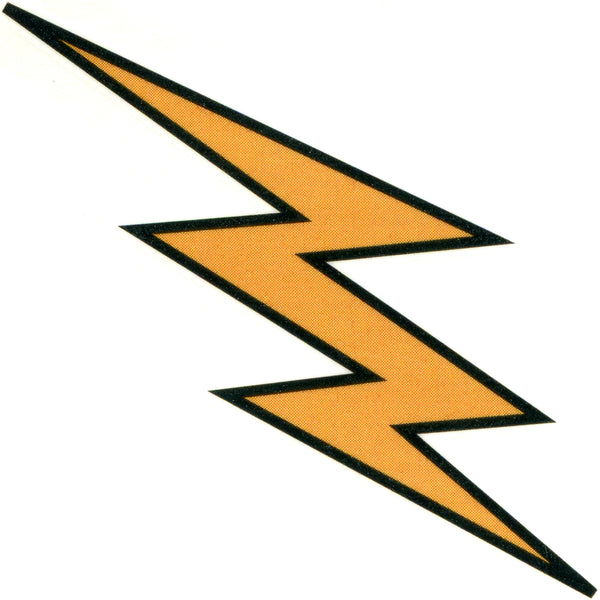 GOLDEN LIGHTNING Temporary Tattoo 2x2