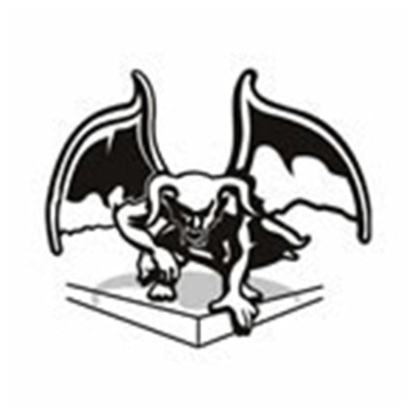 Facing Gargoyle Temporary Tattoo 2x2
