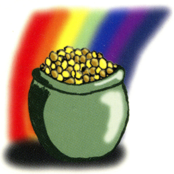 Pot of Gold Temporary Tattoo 2x2